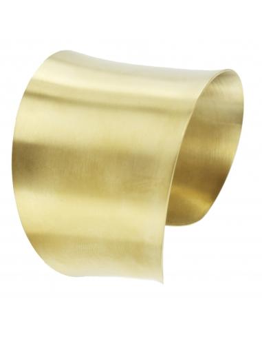 Traveller - Bangle - Stainless Steel - gold plated matt - 181003