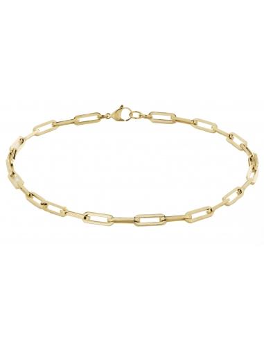 Traveller Necklace Steel gold plated 48cm - 181005
