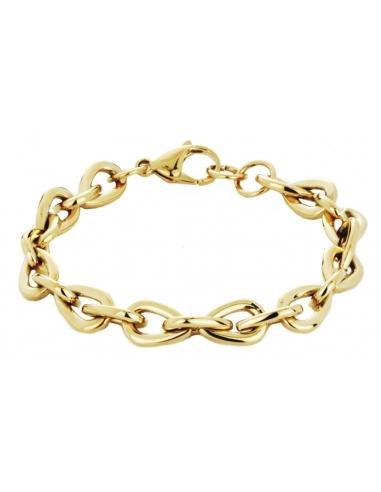Traveller Bracelet Steel Gold plated - 181010