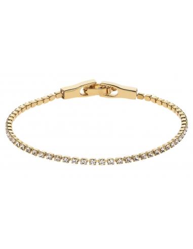 Traveller Tennis Bracelet Gold plated Swarovski Crystals 157416
