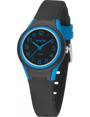 Sinar Analoog Horloge 29mm 12-17,5cm 10 bar zwart/blauw - XB-47-1